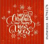 vintage christmas postcards...   Shutterstock .eps vector #667961176