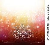 vintage christmas postcards...   Shutterstock .eps vector #667961182