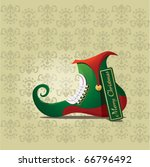 elf shoe | Shutterstock .eps vector #66796492