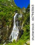 Beautiful Waterfall In The...