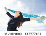 portrait of beautiful mature... | Shutterstock . vector #667977646