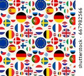 seamless political pattern with ... | Shutterstock .eps vector #667982566
