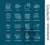 set of thin line modern icons.... | Shutterstock .eps vector #667987072