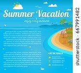 vector illustration of the sea... | Shutterstock .eps vector #667991482