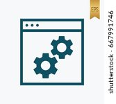 gears icon. vector symbol flat... | Shutterstock .eps vector #667991746
