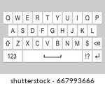 ui design. keyboard template...