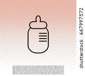 baby milk bottle flat icon....