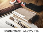 closeup vintage style of... | Shutterstock . vector #667997746