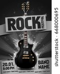 vector rock festival flyer... | Shutterstock .eps vector #668000695