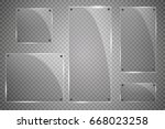 glass plates are installed.... | Shutterstock .eps vector #668023258