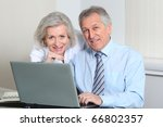 business partners working on... | Shutterstock . vector #66802357