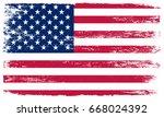 grunge american flag.usa... | Shutterstock .eps vector #668024392