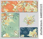 set of creative business card... | Shutterstock .eps vector #668033122