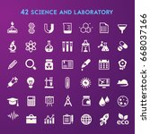 trendy flat design science and... | Shutterstock .eps vector #668037166