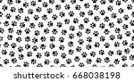 Stock vector dog paw cat paw kitten vector seamless pattern wallpaper 668038198
