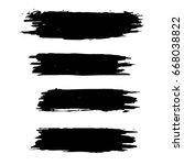 set of black grunge artistic... | Shutterstock .eps vector #668038822