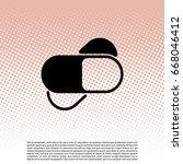 tablets  pills  icon. vector... | Shutterstock .eps vector #668046412