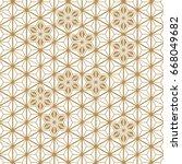 japanese pattern vector.... | Shutterstock .eps vector #668049682