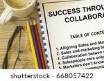 success through collaboration   ... | Shutterstock . vector #668057422