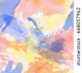 watercolor abstract... | Shutterstock .eps vector #668057962