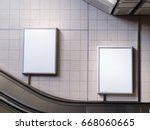 mock up poster media template... | Shutterstock . vector #668060665