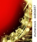 abstract red christmas three... | Shutterstock . vector #66806857