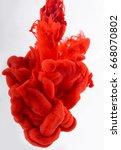 ink in water  | Shutterstock . vector #668070802