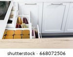 side view of a spices and...   Shutterstock . vector #668072506