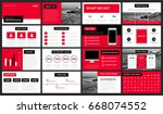 modern red presentation... | Shutterstock .eps vector #668074552