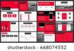 modern red presentation... | Shutterstock .eps vector #668074552