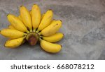 bananas on a vintage background | Shutterstock . vector #668078212