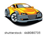 sport car  | Shutterstock .eps vector #668080735
