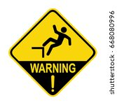 fall warning sign. symbol ... | Shutterstock .eps vector #668080996