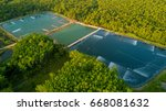 shrimp farms aerial view in the ... | Shutterstock . vector #668081632