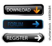 vector buttons   download ... | Shutterstock .eps vector #66808684