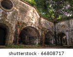 Ruins of fort Salis-Soglio in Przemysl,  Poland - stock photo