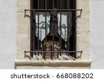stone french window with old... | Shutterstock . vector #668088202