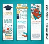 vector set of education...   Shutterstock .eps vector #668097055