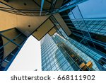 view from the bottom at high... | Shutterstock . vector #668111902