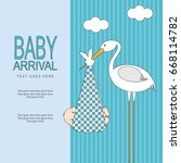 baby arrival | Shutterstock .eps vector #668114782