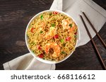 a bowl of instant chinese... | Shutterstock . vector #668116612