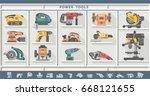 power tools | Shutterstock .eps vector #668121655