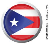 isolated flag of puerto rico on ... | Shutterstock .eps vector #668122798