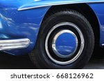 car wheels close up on a... | Shutterstock . vector #668126962
