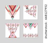 banner template design with... | Shutterstock . vector #668127952