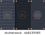 collection of dark backgrounds... | Shutterstock .eps vector #668139385
