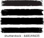 set of grunge brush strokes | Shutterstock .eps vector #668144635