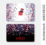 4th of july gift voucher vector ... | Shutterstock .eps vector #668148232