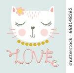 love cat vector design.   Shutterstock .eps vector #668148262