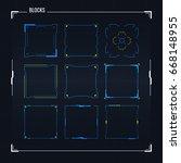 sci fi modern futuristic user... | Shutterstock .eps vector #668148955